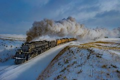 (Erik C. Lindgren) Tags: steam thebigboy bigboy4014 bigboy uprr unionpacificrailroad unionpacific winter wyoming 4014 up4014 trains railroads