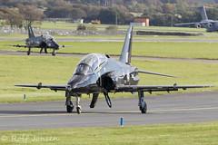 XX256 XX161 British Aerospace Hawk T.1/1A Royal Navy Prestwick airport EGPK 15.10-19 (rjonsen) Tags: plane airplane aircraft military aviation fighter trainer airside taxying raf