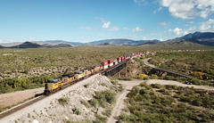 8684+3818+8025, Cienega Creek AZ, 5 Nov 2019 (Mr Joseph Bloggs) Tags: usa arizona united states america union pacific railway railroad bahn zug train treno freight cargo merci container intermodal vail emd sd70 sd70ace up 8684