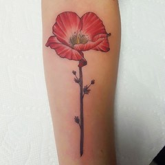 Flower Tattoo by Wes Fortier - Burning Hearts Tattoo Co. • Waterbury, CT.