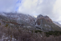 Pine Valley Mountains, Utah,  in clouds and snow (swissuki) Tags: geology rhyolite monzanite pine valley mountain landscape largelandscape leeds ut utah nature