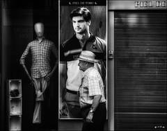 Indifférence /  Disinterest (vedebe) Tags: ville city rue street urbain urban homme people humain human mannequin noiretblanc netb nb bw monochrome société
