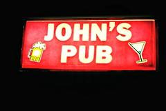 John's Pub - Kildeer, Illinois (Cragin Spring) Tags: night illinois il midwest unitedstates usa unitedstatesofamerica sign bar beer martini olivered kildeer kildeeril kildeerillinois rt12 johnspub