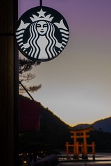 Siren in Japan (somazeon) Tags: f28 1235mm gx7 lumix panasonic bluehour dusk japan sunset miyajima hiroshima