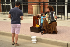 An audience and participant (radargeek) Tags: openstreets 23rdstreet uptown23rd 2019 april okc oklahomacity kids kid child children hope hopenotic accordion piano musician livemusic
