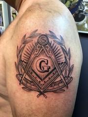 Freemason Tattoo by Wes Fortier - Burning Hearts Tattoo Co. • Waterbury, CT.