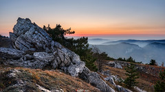 Sunset from the top of Sungurta (zaxarou77) Tags: sunset sungurta nature outdoor mountain rock sun sky three landscape blue orange top russia crimea sony sonyclub a7 a7m2 a7mii a7markii markii carlzeiss zeiss 1635 fe sel 1635mm f4 ilce7m2 variotessar t mm za oss sel1635z sonyflickraward