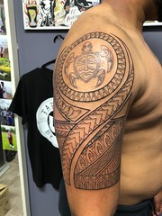 Polynesian Tattoo by Wes Fortier - Burning Hearts Tattoo Co. • Waterbury, CT.