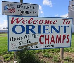 Welcome to Orient Sign (Orient, South Dakota) (courthouselover) Tags: southdakota sd citywelcomesigns faulkcounty orient eastriversouthdakota greatplains northamerica unitedstates us