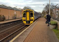 Abellio Scotrail Class 158 158727 arriving at Maryhill Station Platform 1 with service 2W60 (28-11-19) (Rikki Cameron) Tags: trains abellio scotrail scotrailsaltireblue class158 expresssprinter 158727 brel localstoppingservice 2w60 anlglq anniesland glasgowqueenstreet maryhill maryhillparkjunction