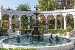 Philharmonic Fountain Park near the Old City in Baku, Azerbaijan