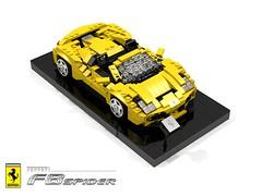 Ferrari F8 Spider (2019) (lego911) Tags: ferrari f8 spider tributo midengine v8 turbo convertible sportscar supercar italian italy auto car moc model miniland lego lego911 ldd render cad povray 2019 foitsop