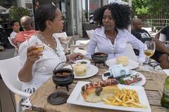 DSC_7053 Vuyos Restaurant Vilakazi Street Orlando West Soweto Johannesburg Gauteng South Africa with Siso and Emily (photographer695) Tags: orlando west soweto johannesburg gauteng south africa siso emily vuyos restaurant vilakazi street