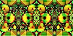 Green & Yellow with Holes (Joe Vance aka oliver.odd) Tags: green yellow colour abstract design circles holes