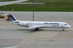 F-GPNL (PlanePixNase) Tags: airport stuttgart aircraft regional planespotting str edds echterdingen f100 100 airfrance fokker