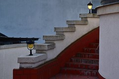 Stairway with lamps in november (Ringwald Péter) Tags: november autumn lights rhytm stairway lamp