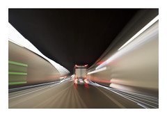 _K004012 (Jordane Prestrot) Tags: ♏ jordaneprestrot suisse switzerland suiza camion truck camión route road ruta longueexposition longexposure tunnel túnel bajaexposición poselongue