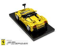Ferrari F8 Spider (2019) (lego911) Tags: ferrari f8 spider tributo midengine v8 turbo convertible sportscar supercar italian italy auto car moc model miniland lego lego911 ldd render cad povray 2019