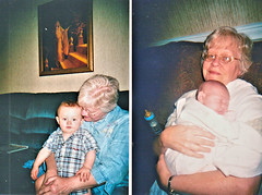Dianne Jean Lail and baby Caleb (Michael Vance1) Tags: woman wife sister twin daughter family girl granddaughter grandmother oklahoma mother love