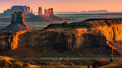 Hunts Mesa - Monument Valley (~ Floydian ~) Tags: henkmeijer photography floydian american utah arizona huntsmesa navajonation navajocounty monumentvalley tribalpark mittens mitten butte buttes sunrise morning dawn landscape landscapes view viewpoint leefilters canon canon1dsmarkiii canoneos1dsmarkiii