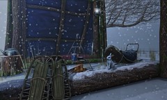 Shelter... (ThiegoFire) Tags: rezzroom thearcade gacha exclusive sl secondlife decor snow rabbit animesh cute white lights photo photography pic