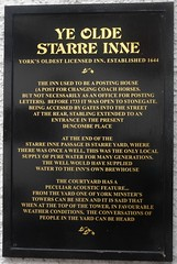 [82233] York : Ye Olde Starre Inne (Budby) Tags: york northyorkshire pub publichouse information history heritage