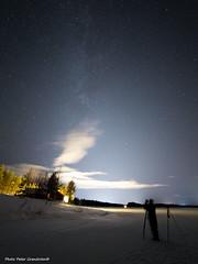 Galaxy! (petergranström) Tags: winter vinter stars stjärnor lights lysen snow snö trees träd wood skog cloud moln lake sjö