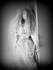 White bride (ok2la) Tags: 20191127130253 holga white bride dead death decomposed halloween figure tomb crypt cemetary grave graveyard enchanted wireworks ghoul walker prop faceless veil
