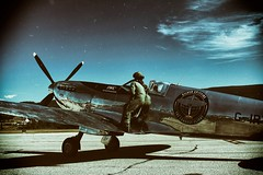 Silver Spitfire (Crusty Da Klown) Tags: spitfire plane ww2 summer pilots canon tones contrasts outside outdoors machine history neat