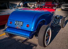 1932 Ford Roadster Hot Rod (Harold Brown) Tags: 1932 automobile blue brunswick brunswickfamilyrestaurant car carshow convertible cruisein ford hotrod laurelsquareshoppingcenter medinacounty nikon nikond90 ohio outdoor roadster summer taillights transportation usa vehicle bhagavideocom haroldbrowncom harolddashbrowncom photosbhagavideocom haroldbrown