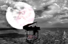 Solo (Ladmilla) Tags: theedgeartgallery gallery art artgallery digitalart exhibition artexhibition shadows piano pianist moon sky clouds sea ocean water reflection nature landscape sl secondlife surreal surrealism