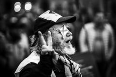 fingers crossed (Gerrit-Jan Visser) Tags: amsterdam blinded crossed damsquare fingers palestian peace protest wounded portrait street wish hope palestine