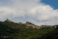 The Great Wall (E. Aguedo) Tags: wall great china chineseculture clouds green rocks outdoors beijing ancient history asia hill landscape trees ngc