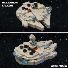 SW Microfighters: Millennium Falcon (Ben Cossy) Tags: lego moc afol tfol microscale micro tiny small star wars