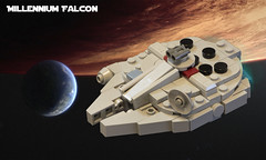 SW Microfighters: Millennium Falcon (Ben Cossy) Tags: lego moc afol tfol microscale micro tiny small star wars millennium falcon a new hope empire strikes back return the jedi