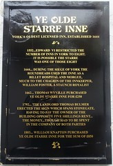 [82232] York : Ye Olde Starre Inne (Budby) Tags: york northyorkshire pub publichouse information history heritage