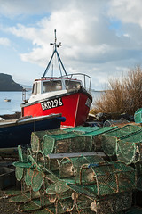 Boat and Creels - Stein (Elmer Duck) Tags: nikond3 tamronsp2040mmf2735af stein waternish skye fishingboat creels