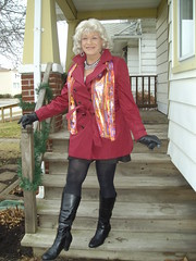 Another From Autumns Past (Laurette Victoria) Tags: boots tights scarf gloves jacket blonde woman laurette