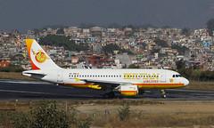 Bhutan Airlines (Treflyn) Tags: airbus a319100 a319 319 a5rim bhutan airlines end runway kathmandu tribhuvan international airport ktm fly paro