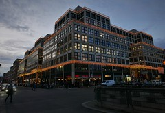 The new Berlin (roomman) Tags: 2019 germany berlin capital city town hauptstadt centre walk walking tour mitte new east west modern old history historic evening night friedrichsstrasse light lights