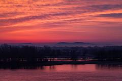 First Light (langdon10) Tags: canada montreal quebec stlawrenceriver sunrise mist shoreline