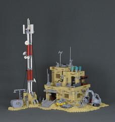 Sci-Fi Desert Outpost (MassEditor) Tags: scifi desert outpost lego space lofi retro