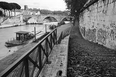 Banks of the Tiber (s_lagann) Tags: rome street bw