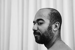 Elias # 2 (just.Luc) Tags: portret portrait ritratto retrato porträt face gezicht visage gesicht man male homme hombre uomo mann baard barbe barba bart beard bn nb zw monochroom monotone monochrome bw sexy attractive handsome