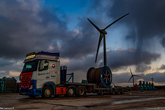 Photo of 24Ton Reel upto Bondie... Bloody Freezing up there and Got away before the Sleet Turned to Snow ...