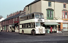 syks - sheffield transport 1153 young st-waterdale doncaster 25-02-1963 (johnmightycat1) Tags: bus sheffield doncaster leyland ecw yorkshire