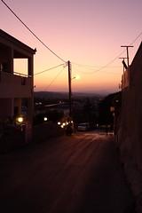 Last light (Steenjep) Tags: holiday ferie kreta crete greece grækenland urlaub platanias aften evening nat night lys light sunset solnedgang street streetlife road vej gade byliv
