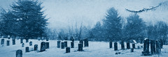 An early snow on those long forgotten (jackaloha2) Tags: graves graveyard old snow newengland connecticut