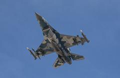 Underside of the Blue F-16 Aggressor (dcnelson1898) Tags: 2019aviationnation airshow nellisairforcebase lasvegas clarkcounty nevada unitedstatesairforce desert flight aviation military f16 generaldynamicsf16fightingfalcon viper fighter