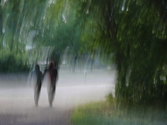 (evisdotter) Tags: couple walking trees candid icm intentionalcameramovement abstract sooc